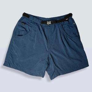 Columbia Navy Blue Belted Hiking Shorts Large
